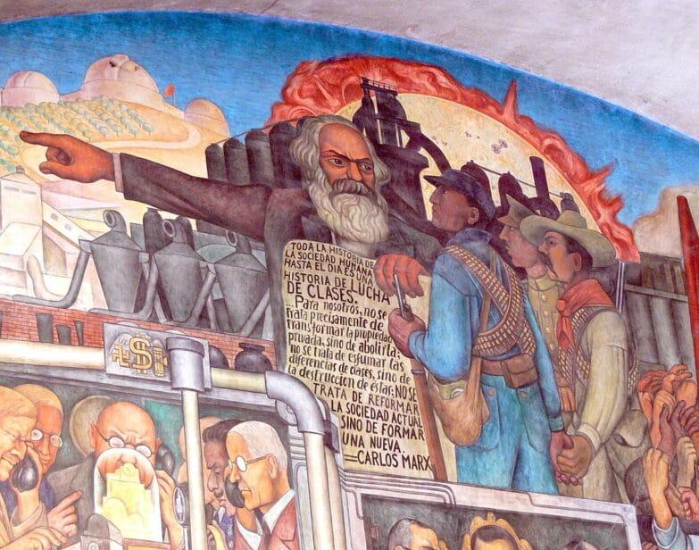 Mural de Diego Rivera, Ciudad de México, Palacio Nacional. Wolfgang Sauber / Wikimedia