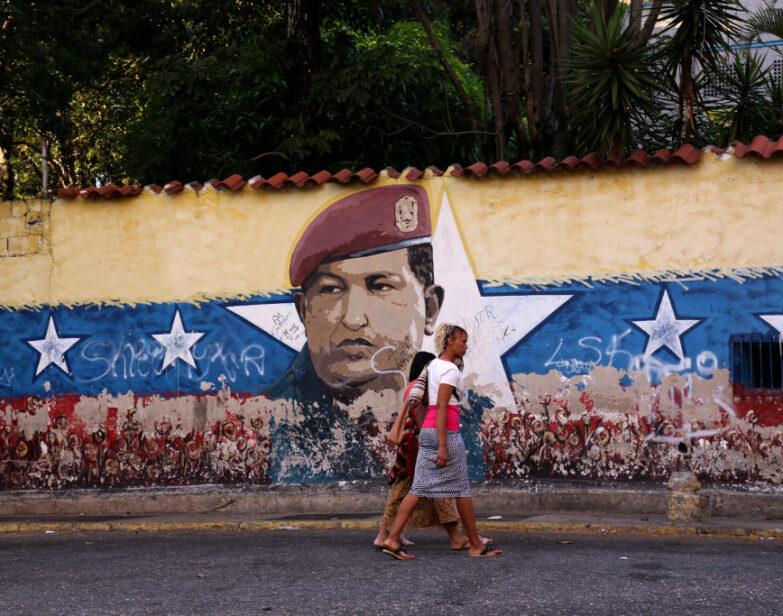 Mural de Hugo Chávez en Caracas