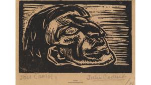 Figura 10. José Carlos, de Julia Codesido (1930). Xilografía. Archivo José Carlos Mariátegui.