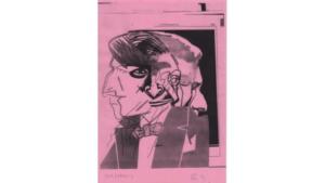 Figura 17. JCM (1930- ), de Iosu Aramburu (serie, 2021). Tóner sobre papel teñido, 29 x 21 cm. Cortesía del artista.